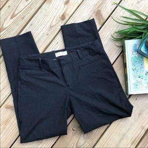 REPOSH Gap Slim cropped career striped grey pants